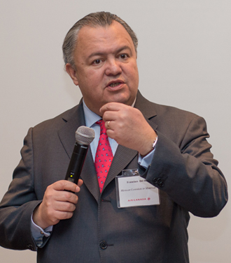Le Consul du Mexique à Montréal, Francisco Del Rio