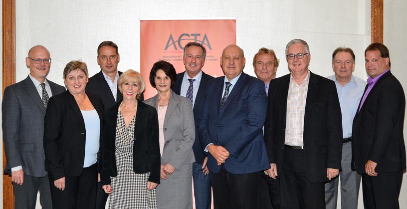 Le conseil d'administration de l'ACTA au grand complet