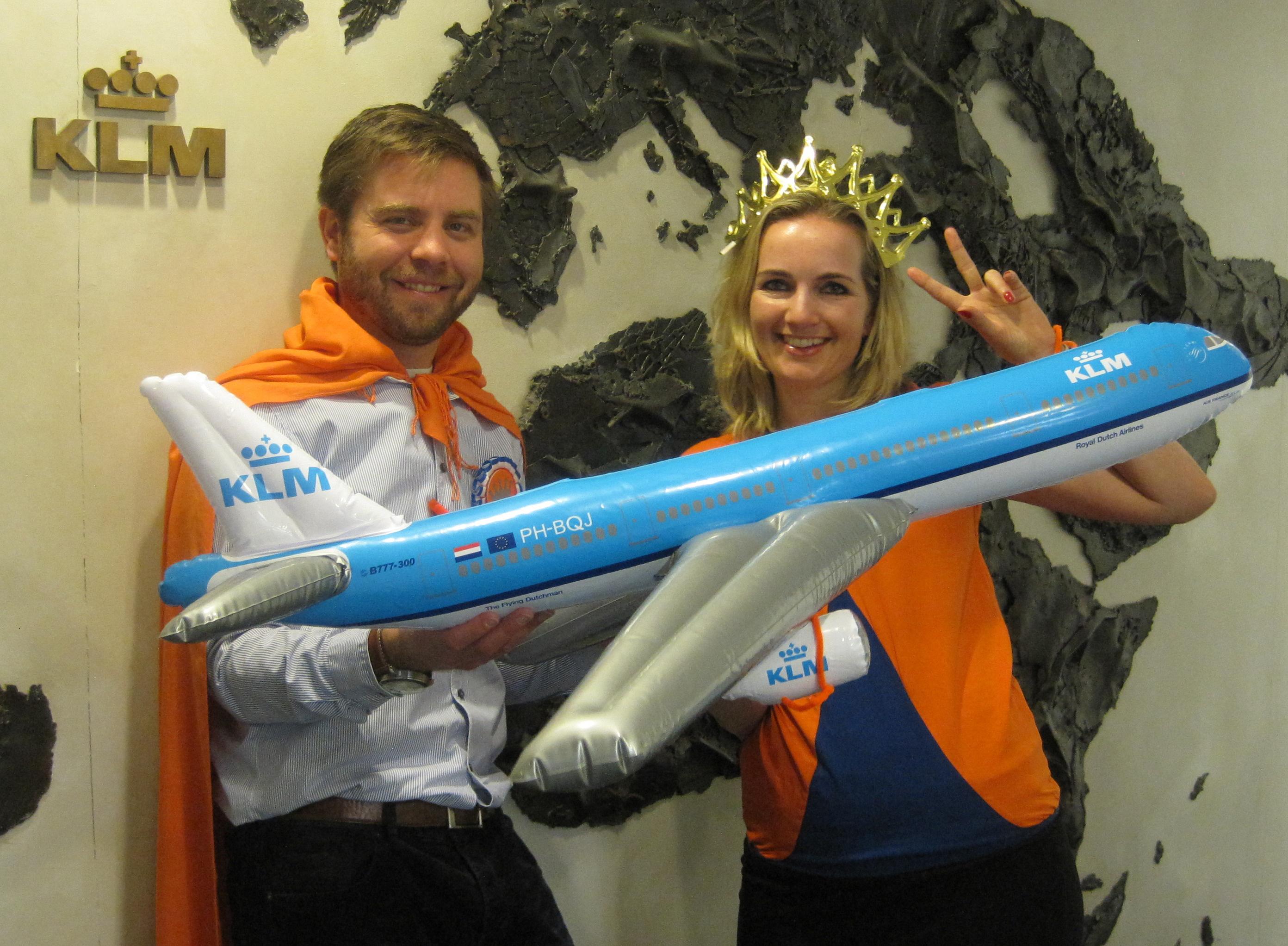 Concours « Passez à l'orange » pour les agents chez KLM
