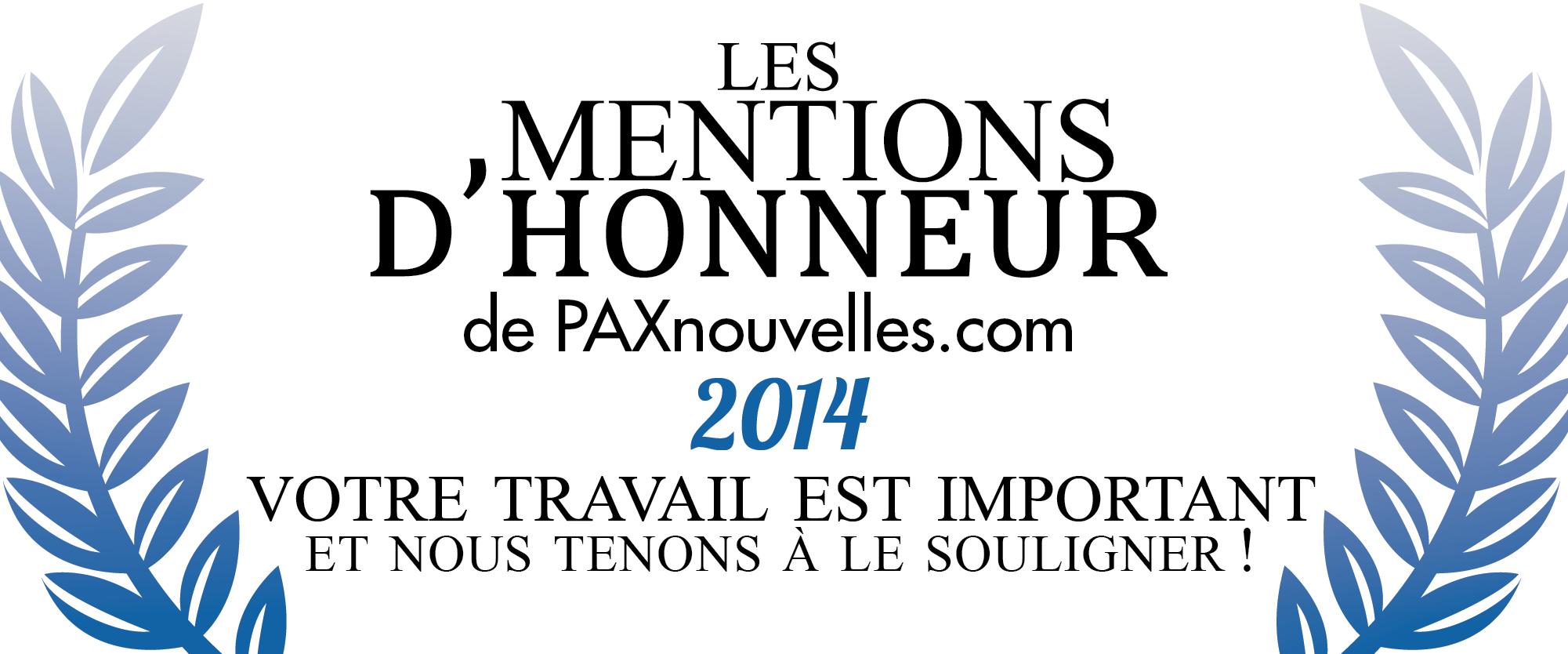 Mentions d'Honneur 2014 : la fin des inscriptions approche