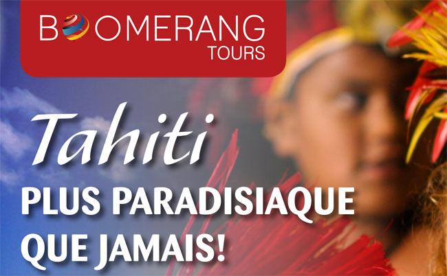 Promo sur Tahiti avec Boomerang Tours