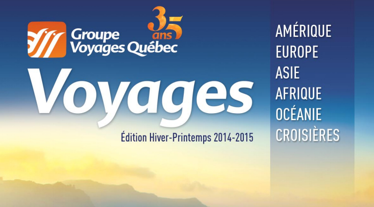 GVQ lance sa brochure hiver-printemps 2014-2015