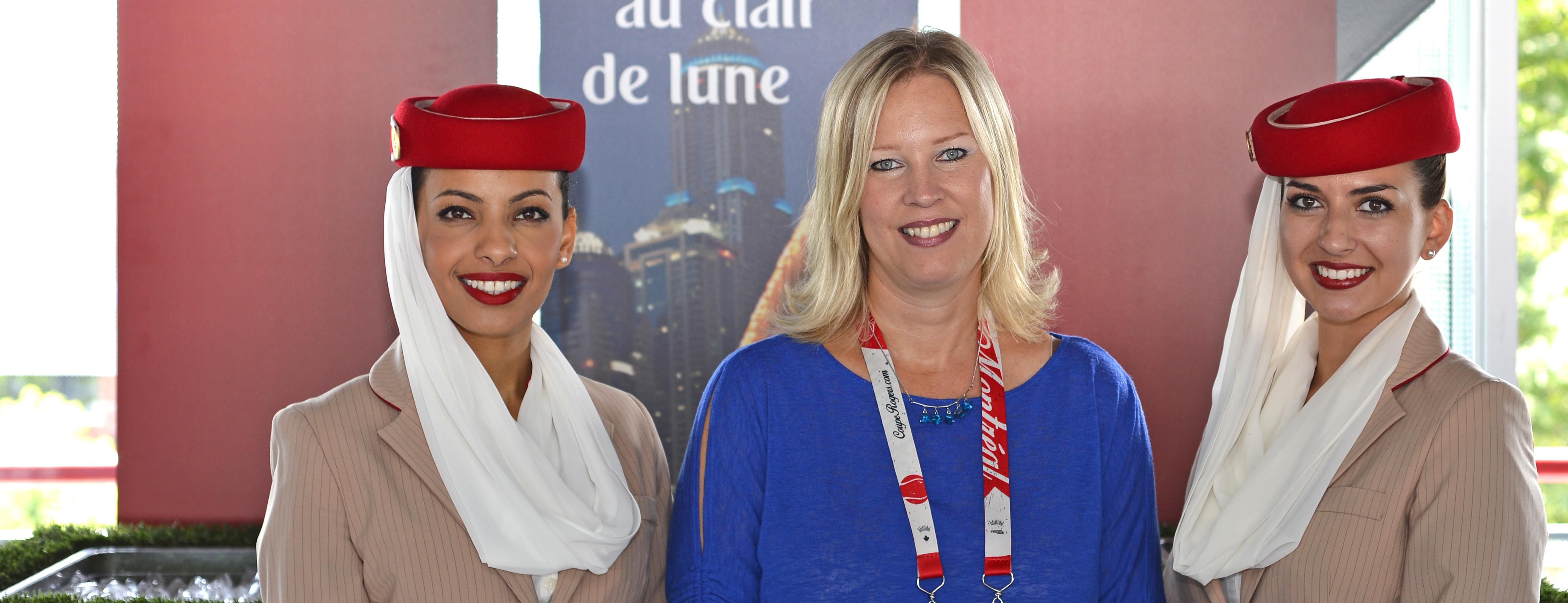 Emirates reçoit ses partenaires lors de la Coupe Rogers