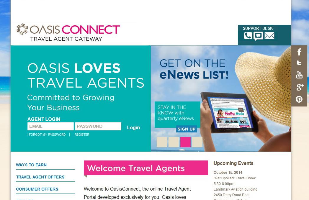 Oasis Hotels & Resorts : un nouveau portail pour agents et une brochure en français
