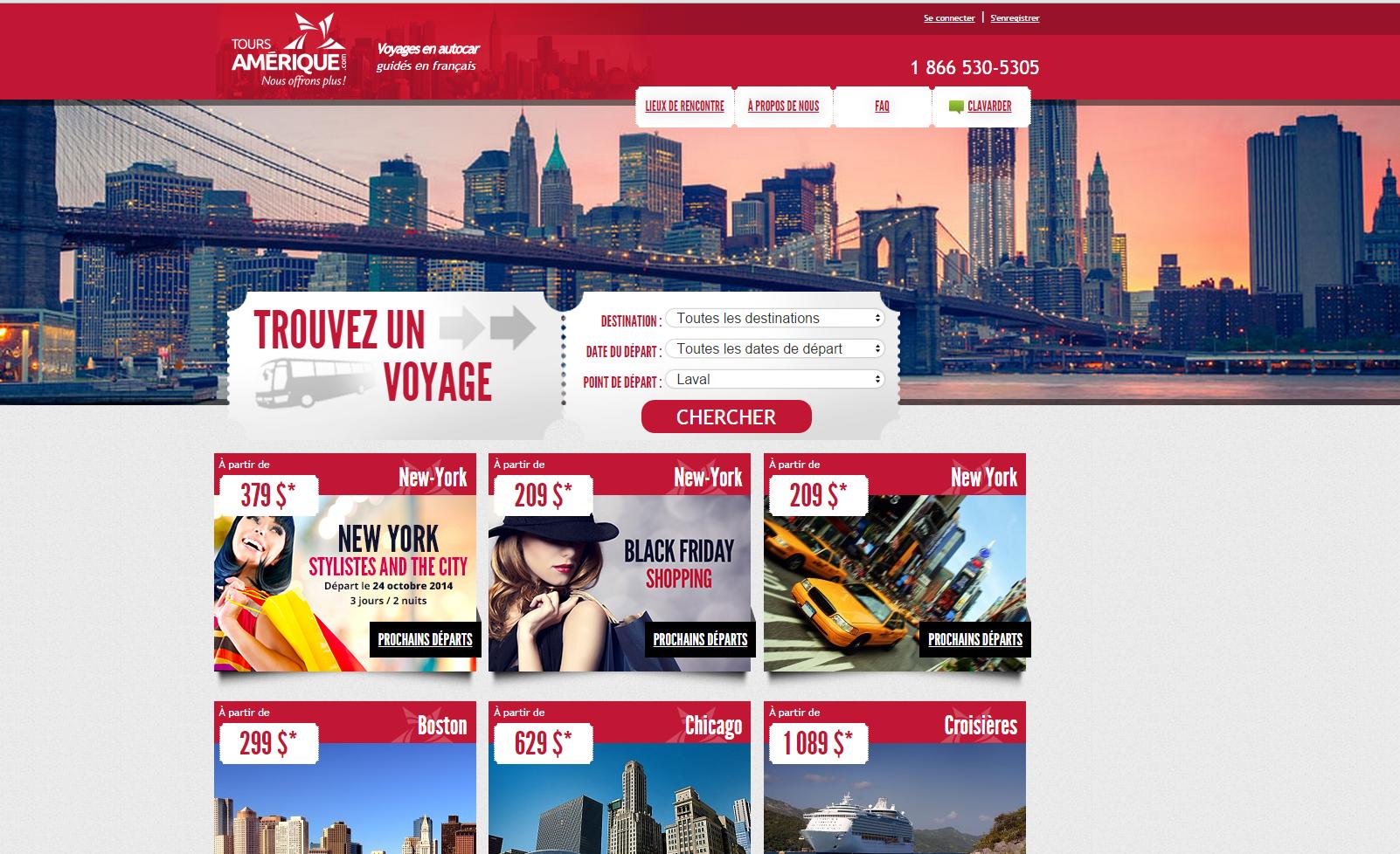 Tours Amérique revampe son site Web
