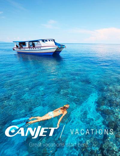 La 1ère brochure de CanJet Vacations