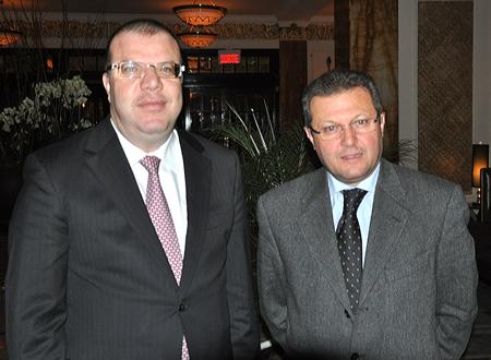 Mohamed Frikha, président de SYPHAX, et Ferid Fetni, directeur pour les Amériques et l'Europe