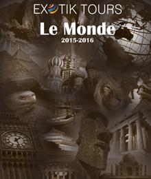La nouvelle brochure 2015-2016 d'Exotik Tours avec des couleurs inhabituelles