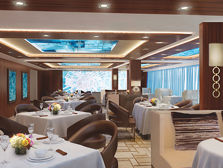 Le restaurant privé de la section Haven du Norwegian Escape