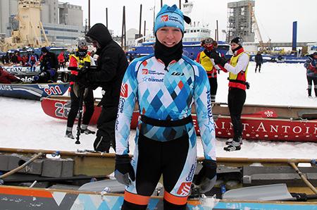 Les vêtements portés par les membres de l'équipe Groupe Voyages Québec/Air Transat sont parmi les plus beaux de toutes les équipes du circuit