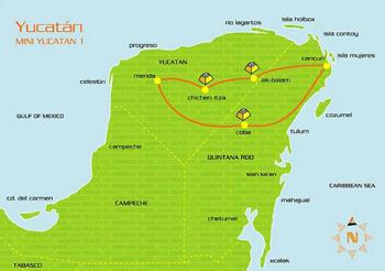 Un exemple de circuit depuis Cancun