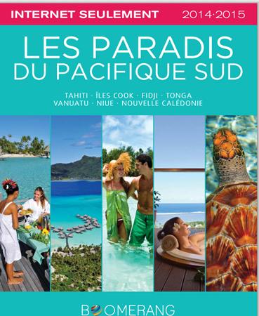 La brochure en ligne Pacifique Sud de Boomerang Tours