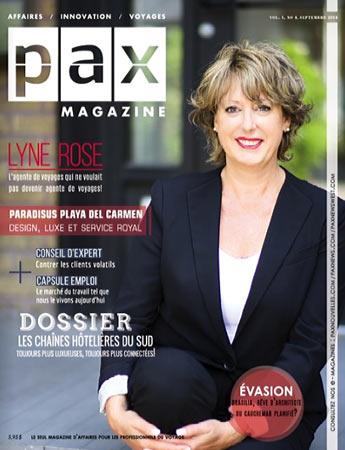La couverture du numéro de septembre de PAX magazine