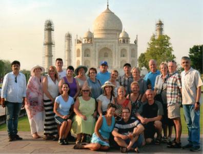De retour d'Inde avec Le Groupe VIP…