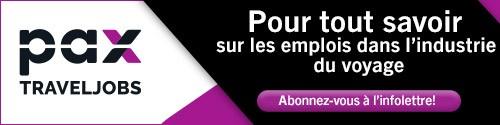 PAX Travel Jobs - standard banner (newsletter) - LANCEMENT NEWSLETTER  Feb 1