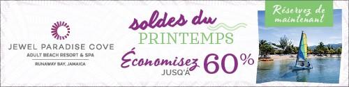 Playa Resorts - Standard banner (newsletter) - Mar 15 to Apr 18 Jewel Jamaica Spring Reset