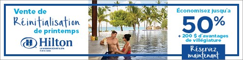 Playa Resorts - Standard banner (newsletter) - May 3 to 16 2021 Hilton