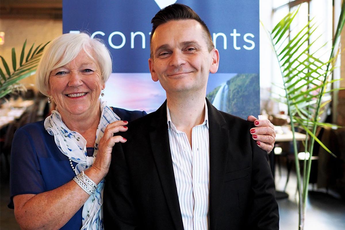 Michele Rauzon et David Boigné de 5Continents (photo d'archive).
