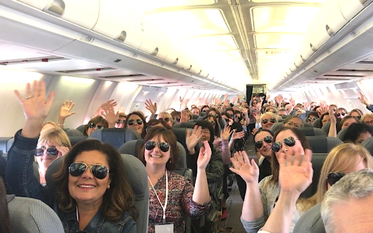 Les participants ont reçu le traitement Celebrity en Floride via First Air, le partenaire charter de Celebrity.