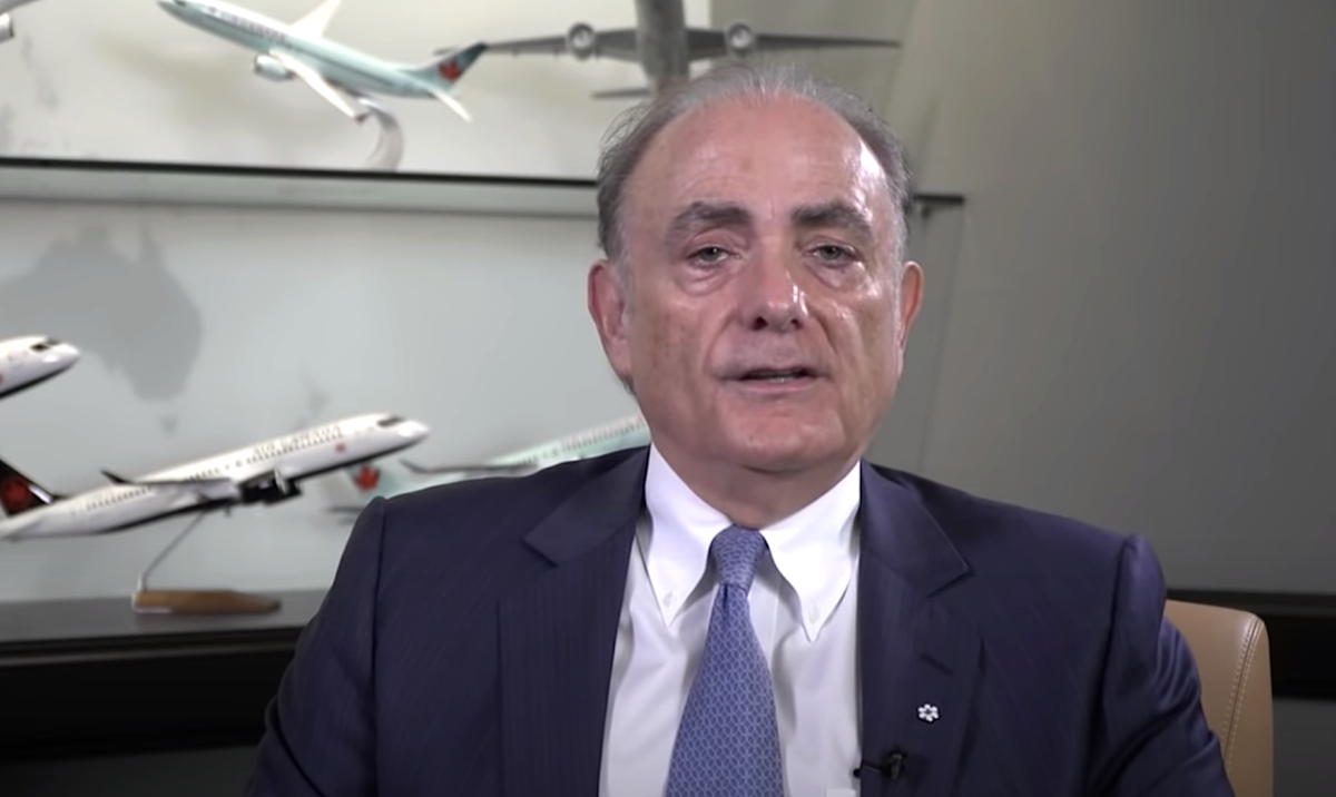 Air Canada President & CEO Calin Rovinescu addresses the public in a recently-released YouTube video.