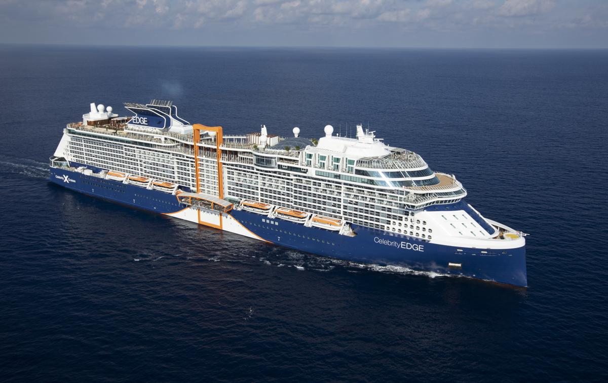 NOUVELLE ÈRE. Celebrity Edge est le premier des cinq navires révolutionnaires de la nouvelle série Edge de Celebrity. Photo: Celebrity Cruises