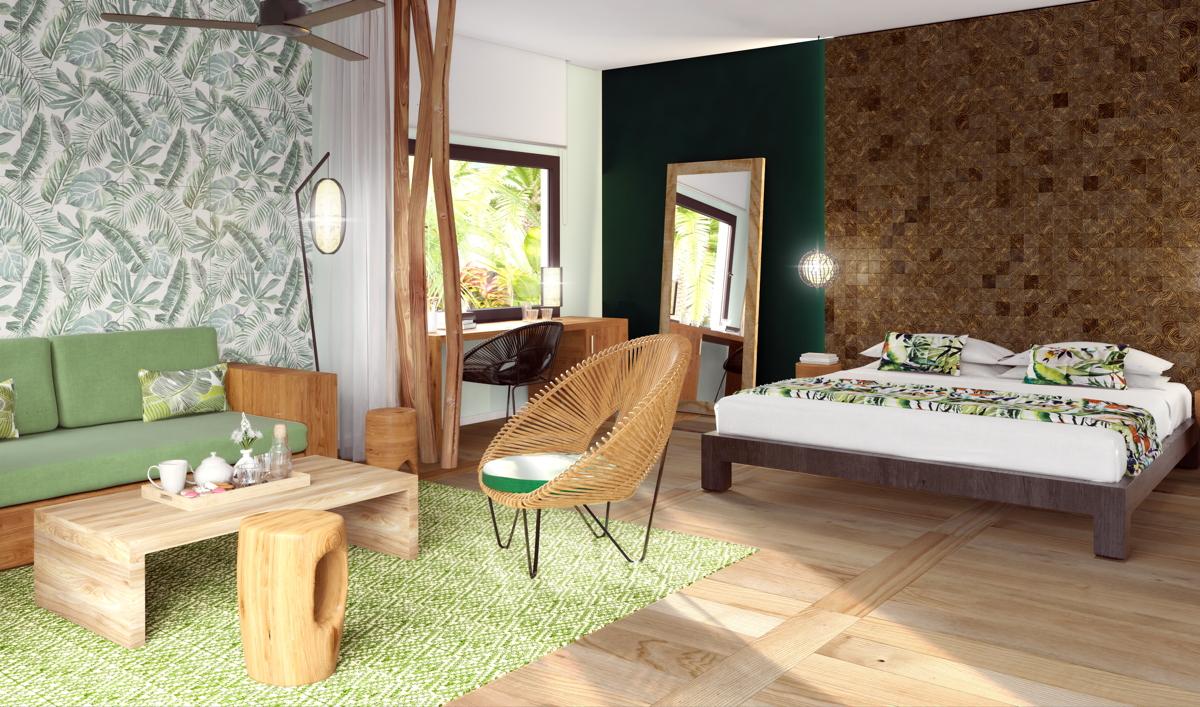 Un aperçu de la chambre Emerald Jungle au Club Med Michès Playa Esmeralda, qui ouvrira ses portes en décembre en République dominicaine. Photo: Club Med