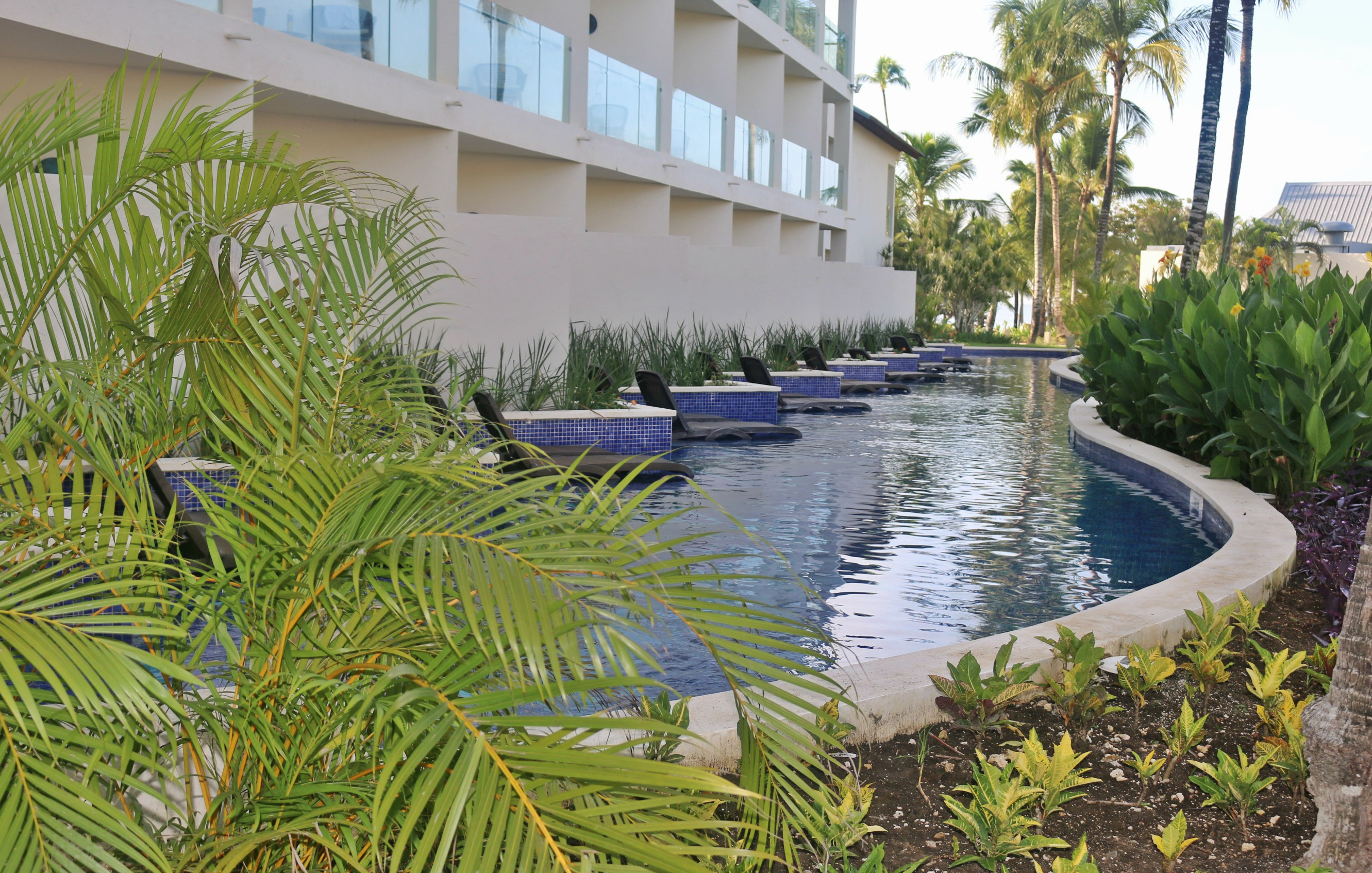 There are 36 swim-up suites on the adults-only side at Hilton La Romana.