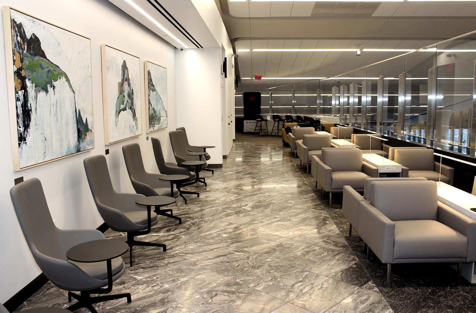 Le salon Feuille d'érable d'Air Canada à l'aéroport LaGuardia.