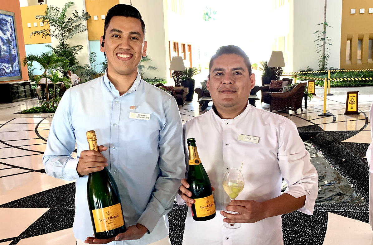YES PLEASE. Guests of Grand Velas are greeted with a glass of Veuve Clicquot upon arrival.
