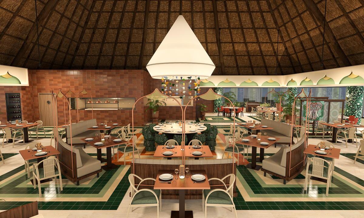 Le restaurant indien du Bahia Principe Grand Tulum.