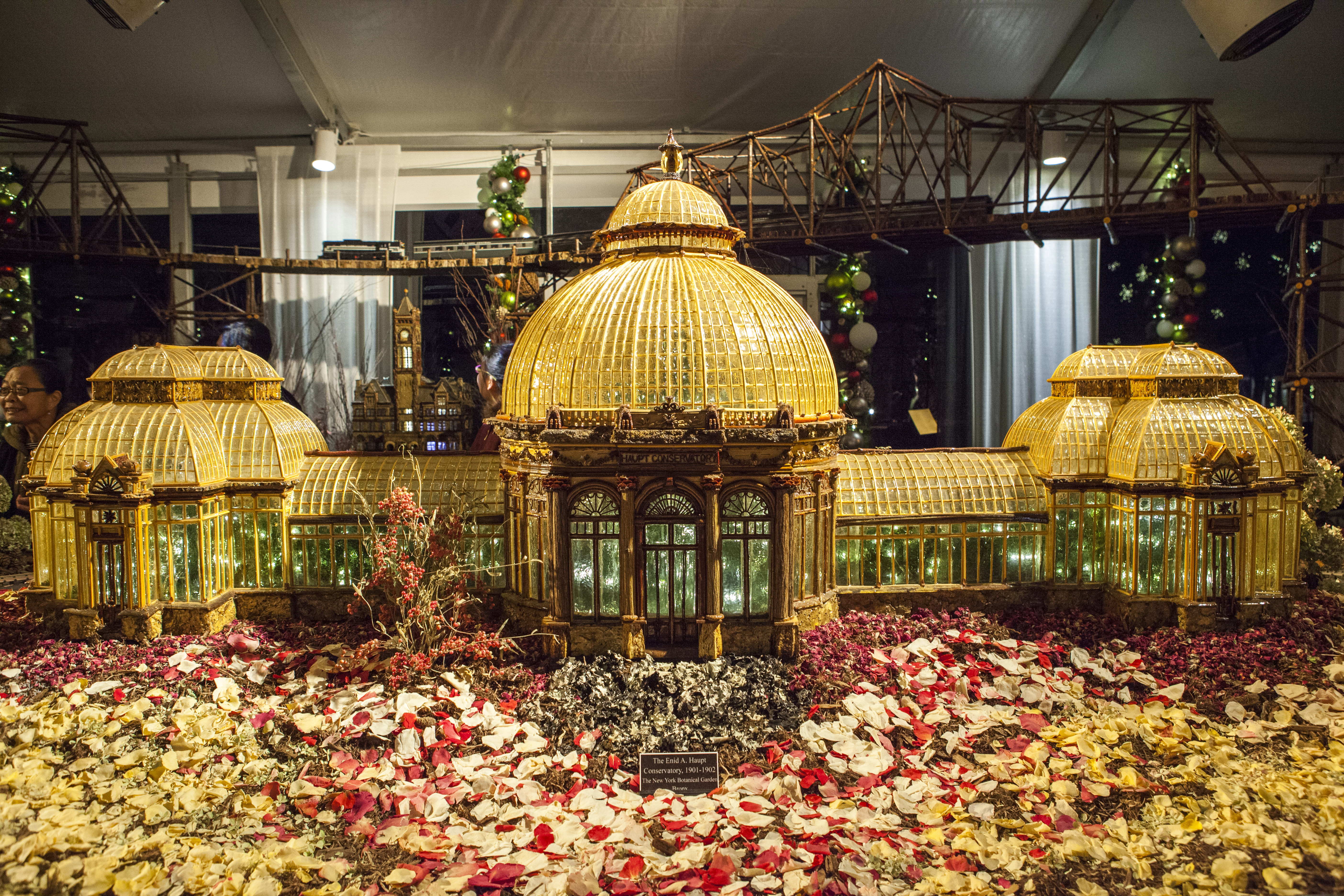 Le train de Noël du jardin botanique de New York