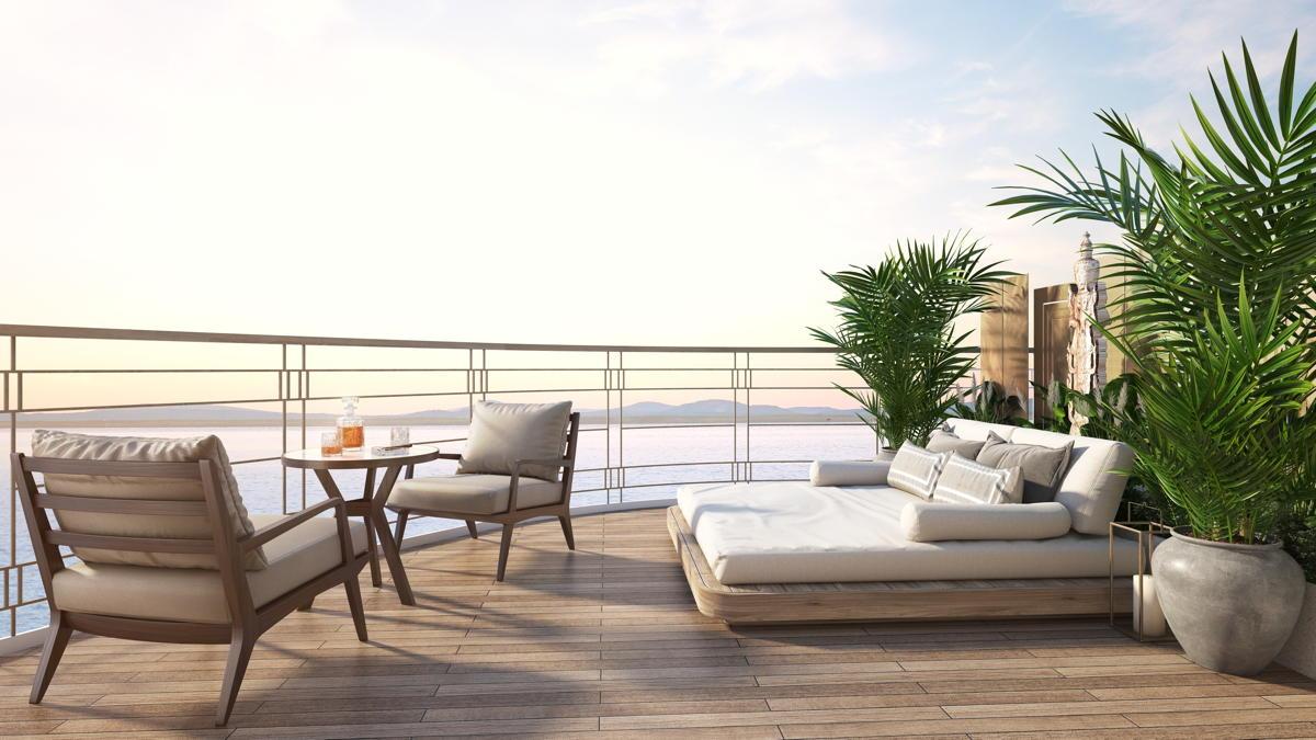 Suite avec balcon.