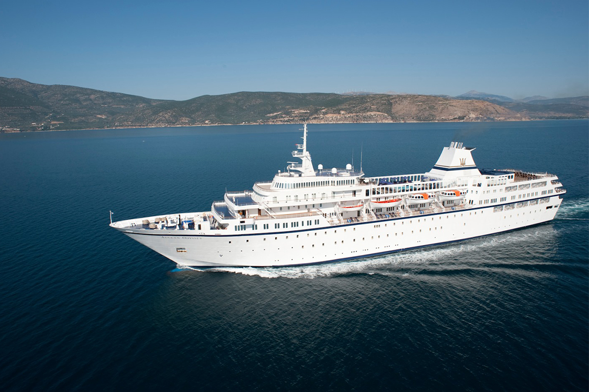 Le navire Aegean Odyssey (crédit photo : Voyages to Antiquity)