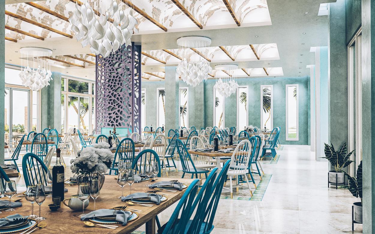 Le restaurant buffet Faro au niveau du corail à l'Iberostar Selection Bavaro