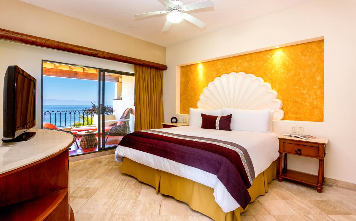 RIEN DE MIEUX QUE D'ETRE A LA MAISON. Une suite avec vue sur l'océan à Velas Vallarta. (Velas Resorts)