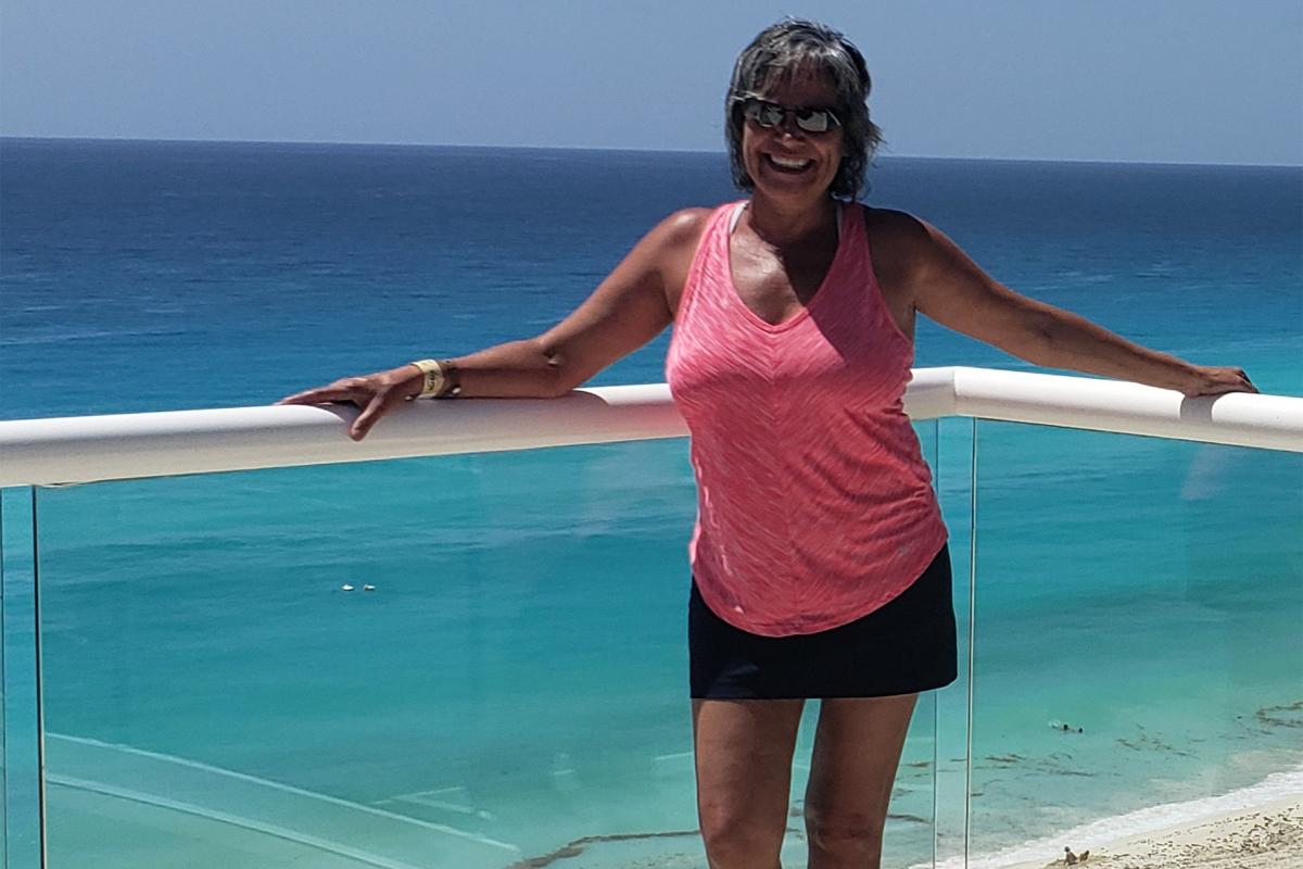 Olga Leonetti, consultante en voyages, Northstar Travel, photographiée ici au Hard Rock Cancun, que le groupe a également brièvement visité. Photo: Olga Leonetti.