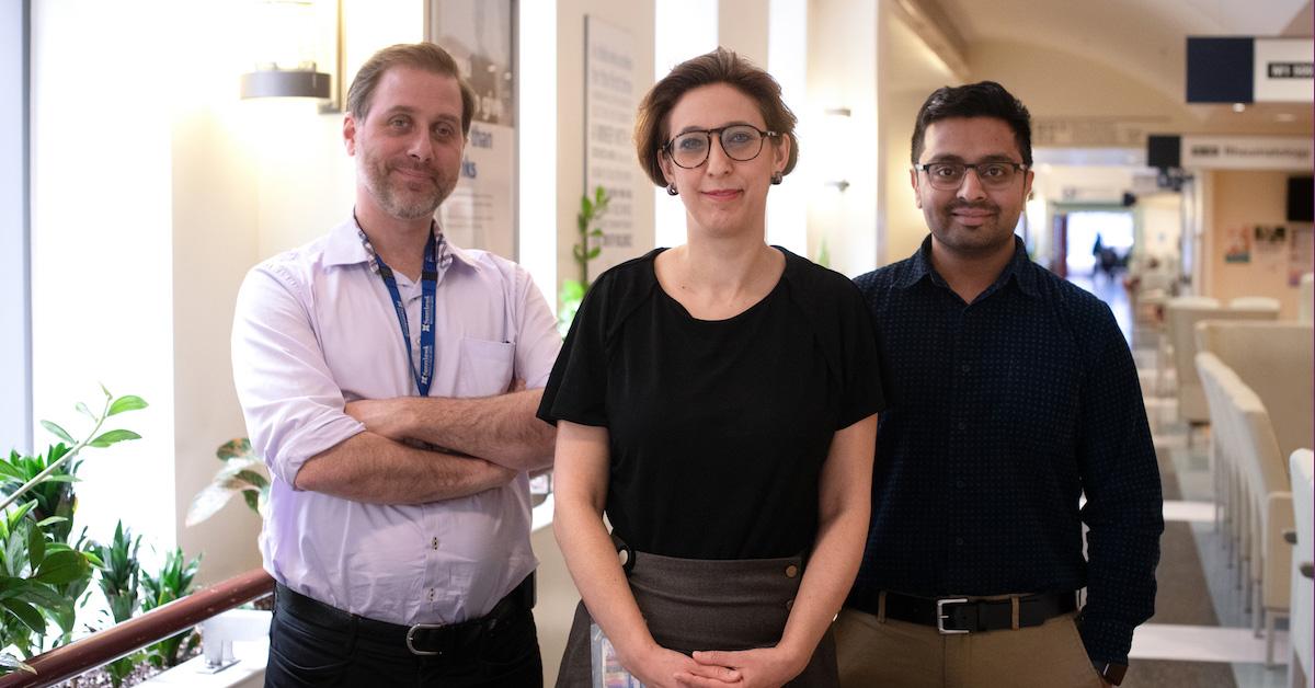 De gauche à droite : Dans l'ordre habituel: le Dr Robert Kozak, le Dr Samira Mubareka, le Dr Arinjay Banerjee (sunnybrook.ca)