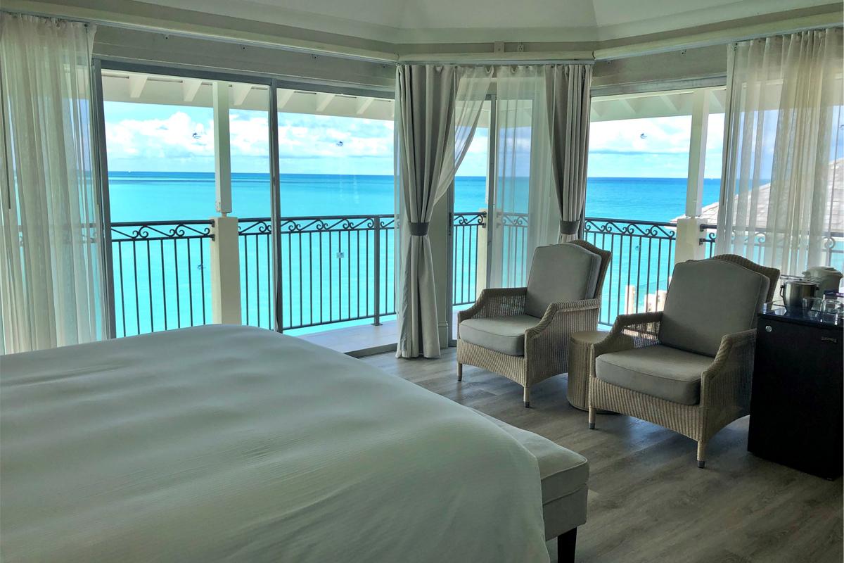 Dans une suite du Rock Cottage, le Blue Waters Resort & Spa.