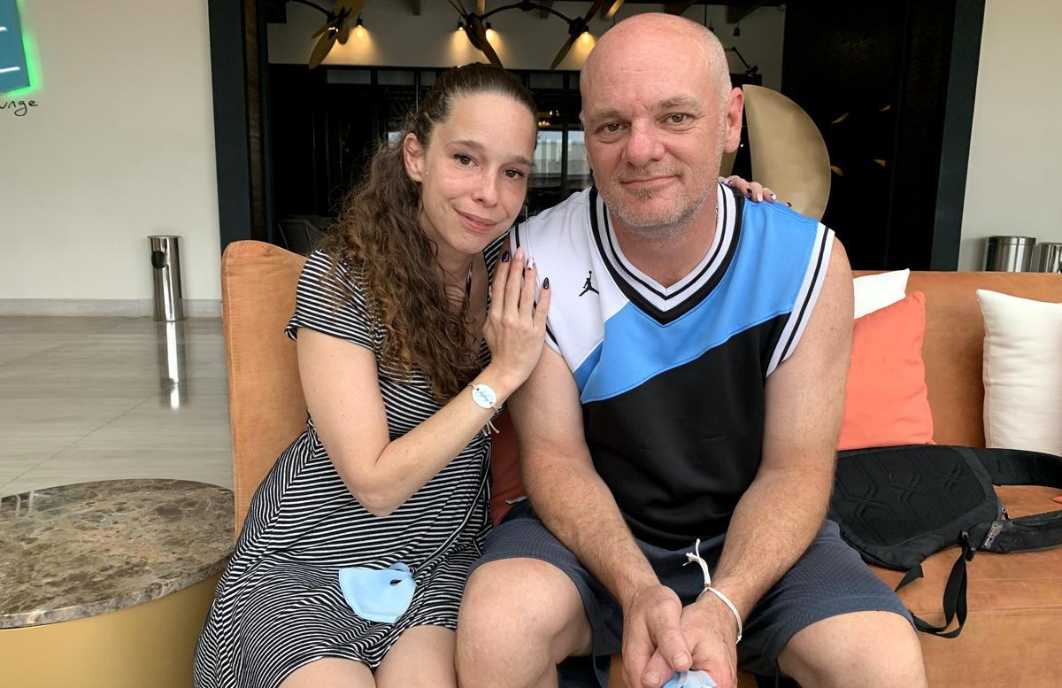 Anouk Richard et son partenaire, Éric, des clients de Sunwing croisés au Royalton Bavaro Resort & Spa, en République dominicaine.
