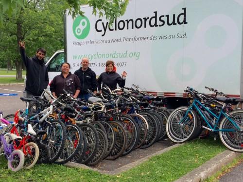 37 vélos de plus pour Cyclo Nord-Sud