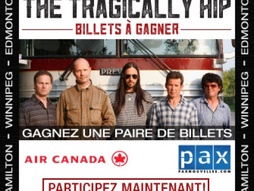Dernière chance de voir The Tragically Hip en spectacle !