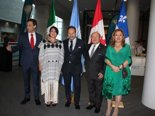 Ambiance festive à la fête de l'indépendance du Mexique