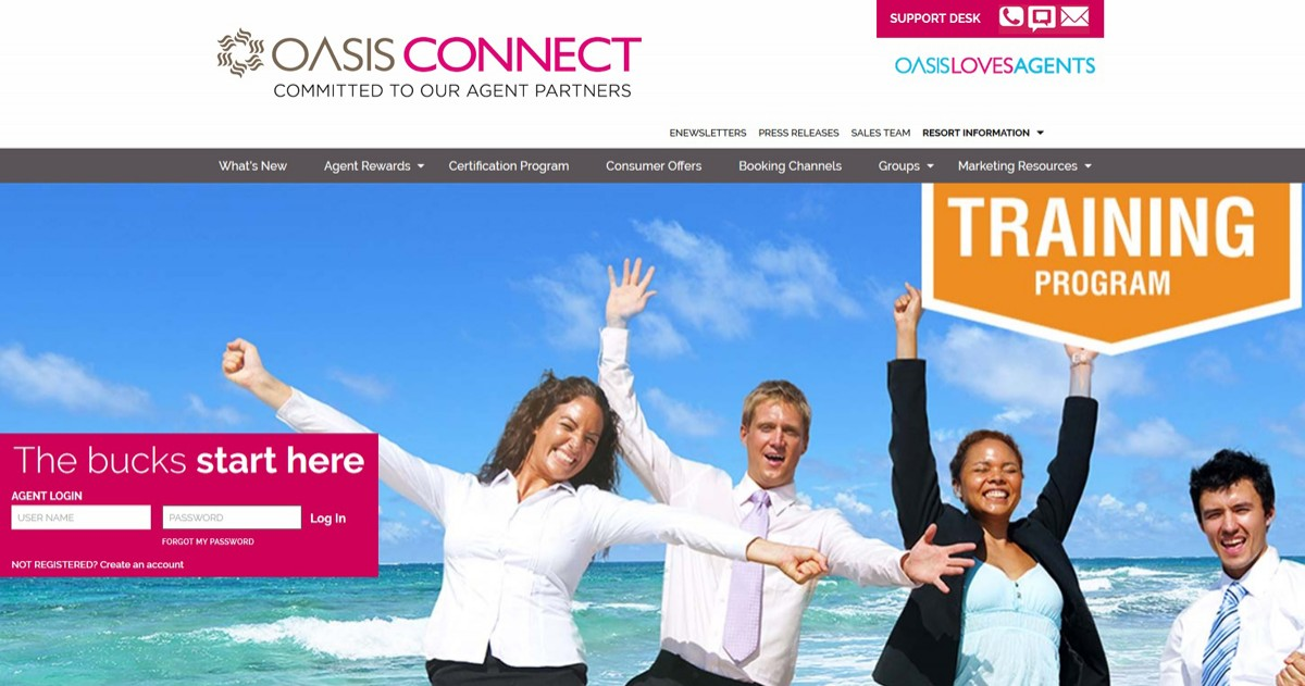 Oasis Hotels & Resorts : un nouveau portail pour agents