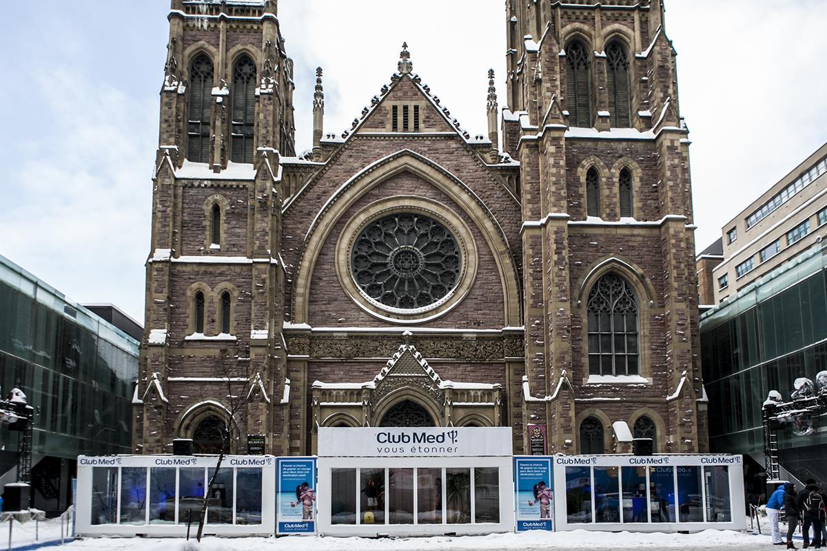 Le Club Med réchauffe le centre-ville de Montréal