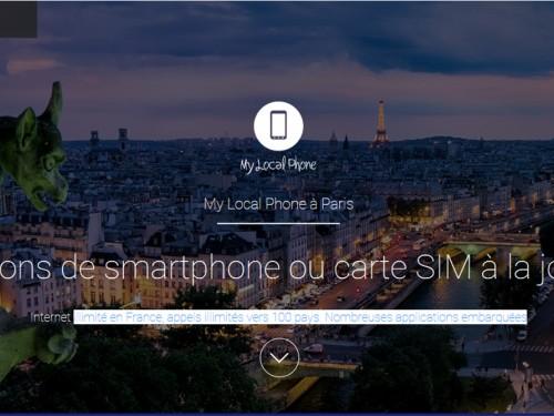 My Local Phone : un service de location de téléphones intelligents pour améliorer l'expérience de voyage à Paris