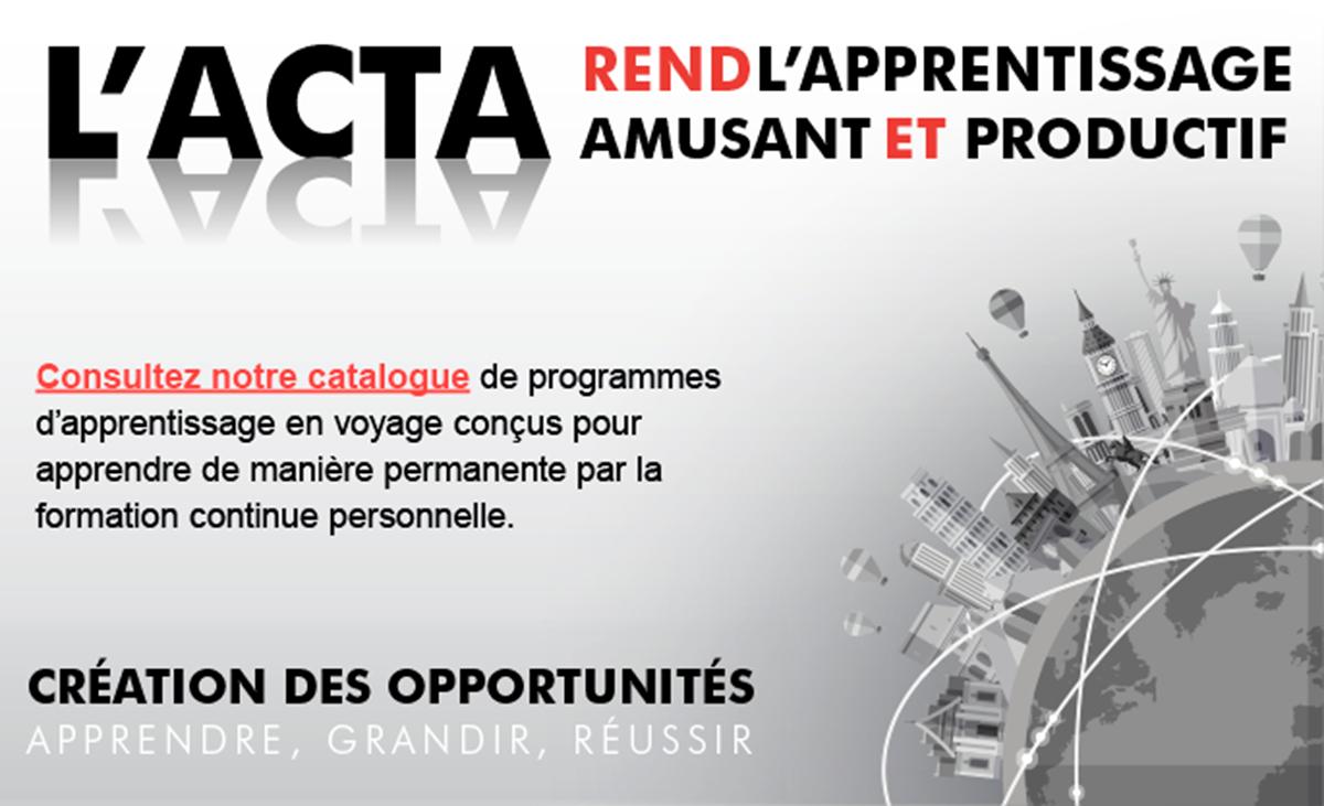 Un webinaire sur les nouveautés du Campus de l'ACTA et de l'Université des ventes mondiales d'Air Canada