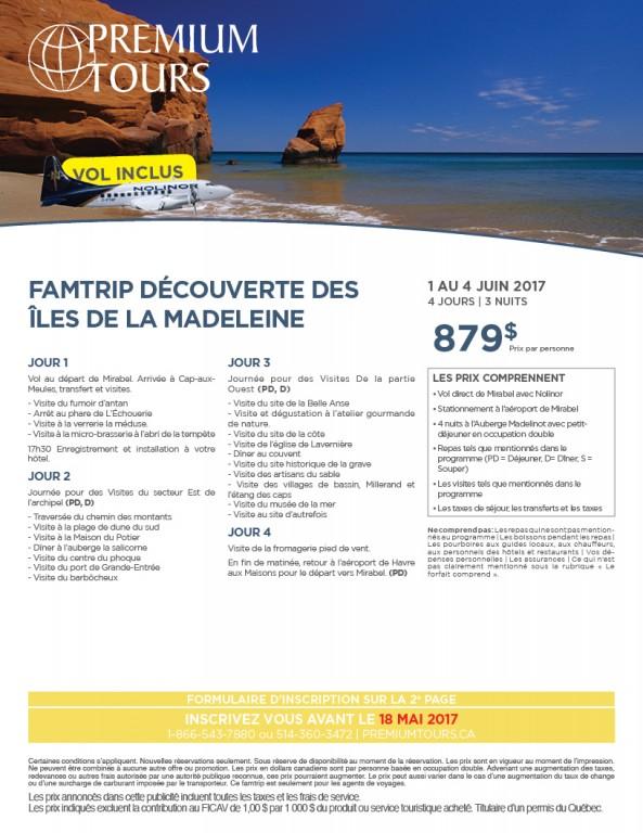 FAMTRIP ÎLES DE LA MADELEINE E...