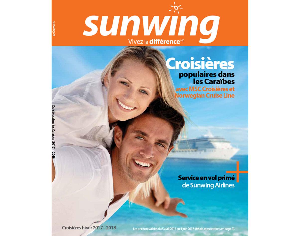 Sunwing lance sa brochure Croisières 2017 - 2018
