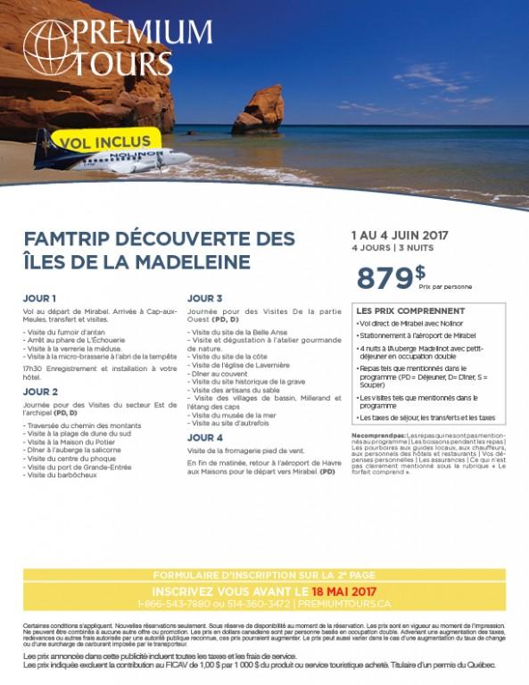 FAMTRIP ÎLES DE LA MADELEINE EN...