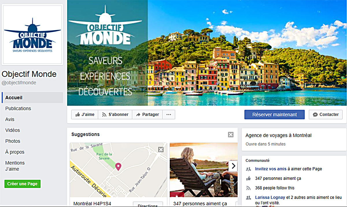 Objectif Monde lance sa page Facebook